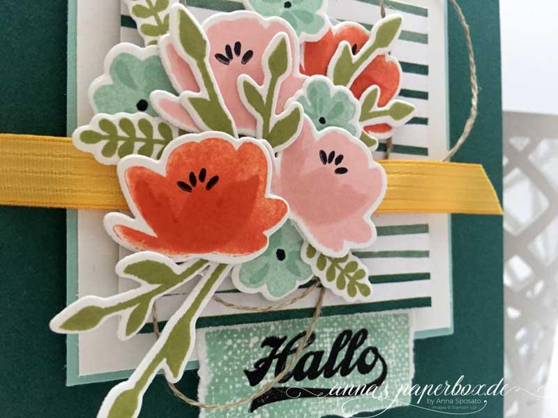Allerliebste Grüße mit einem Blumenbouquet