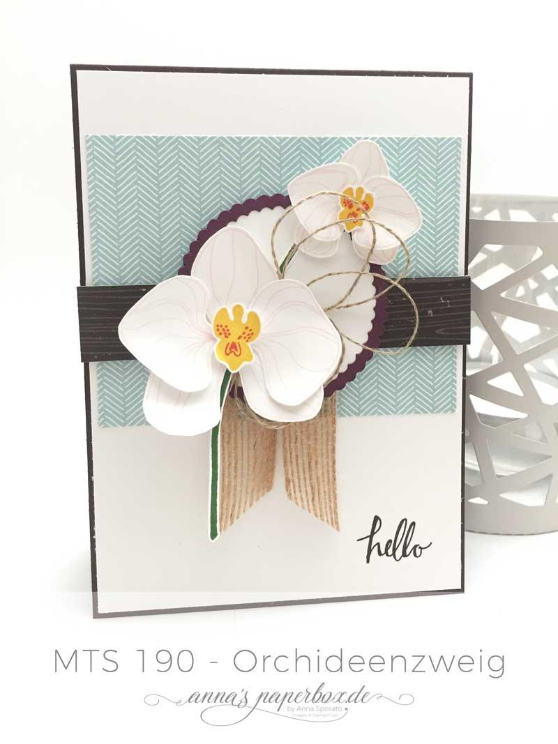 Grußkarte mit Stampin Up Produkten - Orchideenzweig - Kaffeepause