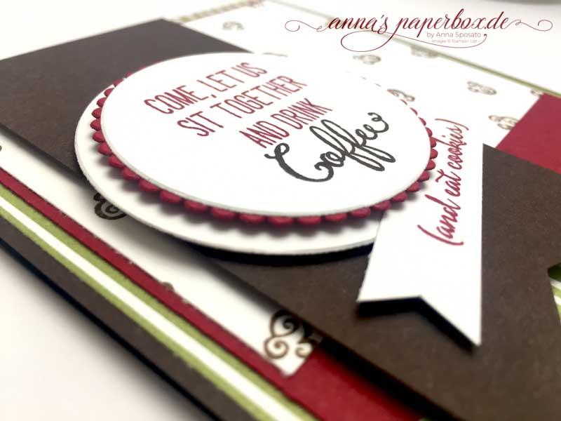 Karte Kaffeepause mit Designerpapier Kaffeepause und Stempelset Balloon Celebration von Stampin' Up!
