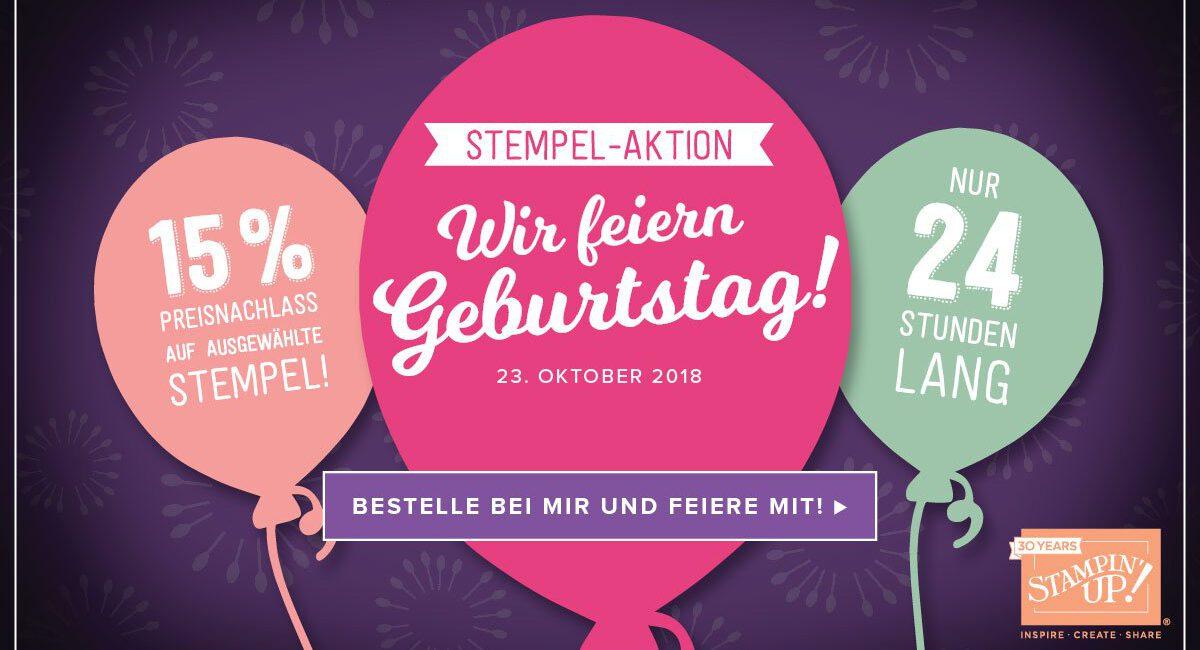 "Stempel-Aktion ""Wir feiern Geburtstag!"""