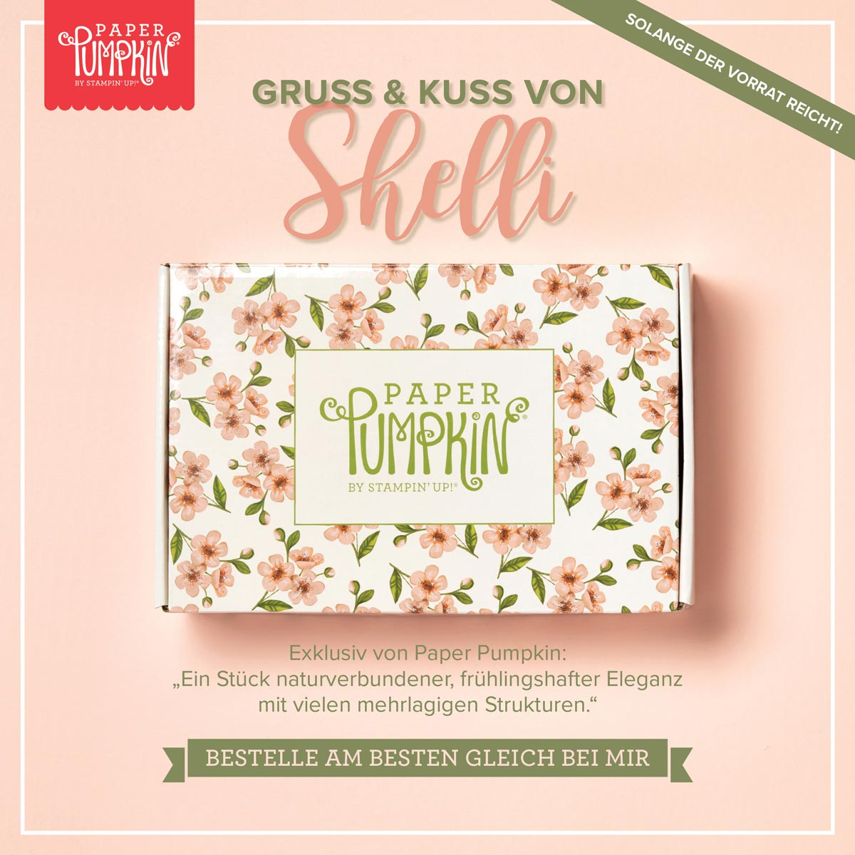 """Preisnachlass auf """"Gruß & Kuss von Shelli"""""""