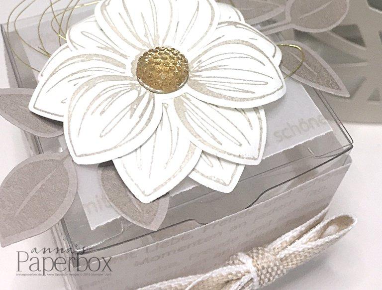 Florale Transparentschachtel