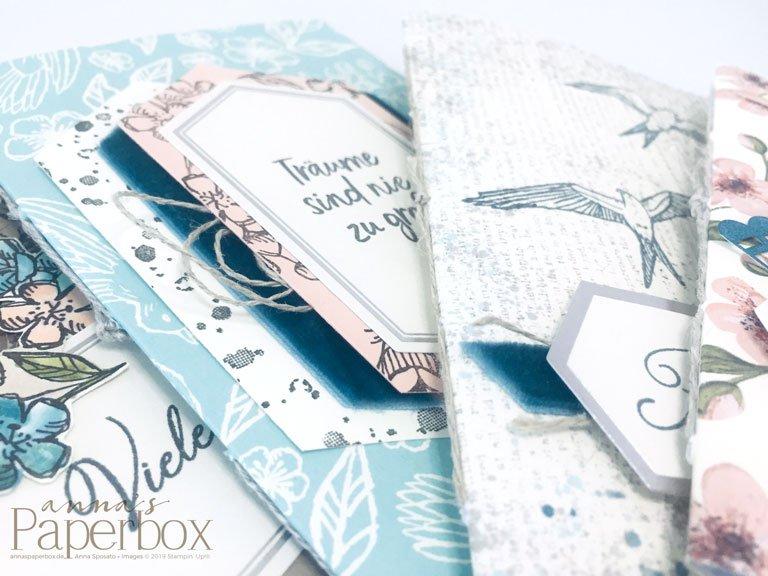 Paper Pumpkin – Gruß und Kuss von Shelli – 4 kleine Notizbücher