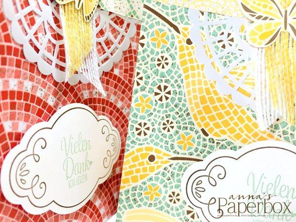 Kleine Geschenktüten im Mosaikdesign mit Magnetverschluß
