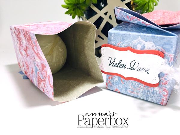 Box mit Drehverschluss. Produkte von Stampin' Up! Tutorial auf annaspaperbox.de