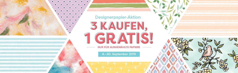 Designerpapier-Aktion 3+1