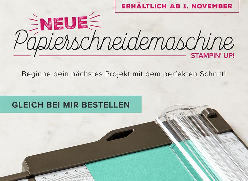 Neuer Papierschneider Ab 1. November!
