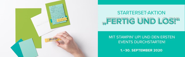 Banner Startersetaktion Fertig und los