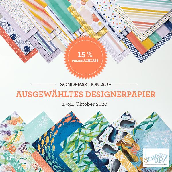 15% auf ausgewähltes Designerpapier im Oktober