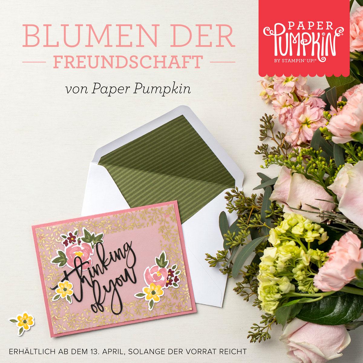 """Paper Pumpkin Set """"Blumen der Freundschaft"""""""