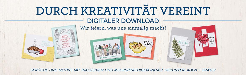 """Gratis Download """"Durch Kreativität vereint"""""""