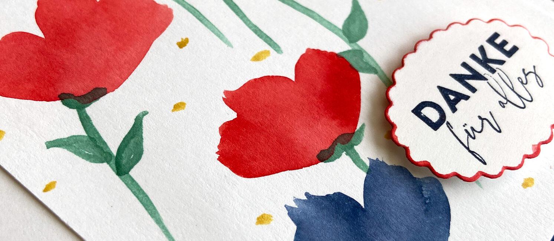 Inspire.Create.Challenge #097 – Freundschaftsblüten in Aquarell